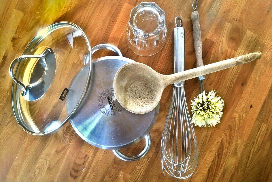 Küchenutensilien als Instrumente