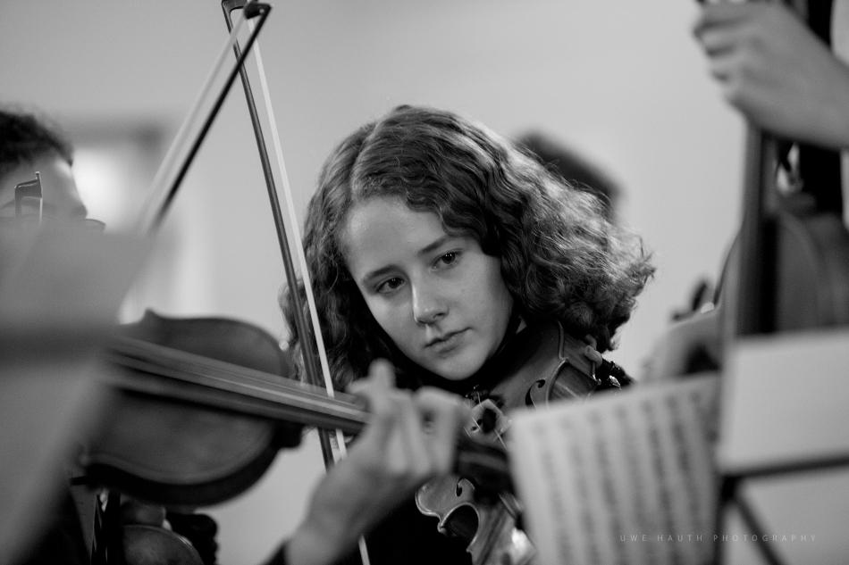 Jugendliche Musikerin